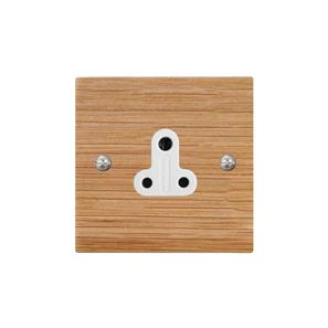 Light Socket 1 gang 2 amp unswitched socket outlet Oak