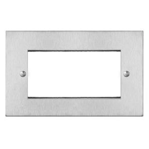 Euro Plate 4 Gang Euro Plate Satin Stainless Steel