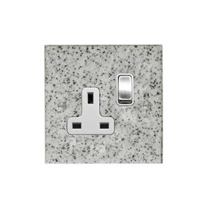 Wall Socket 1 gang 13 amp switch socket outlet Grey