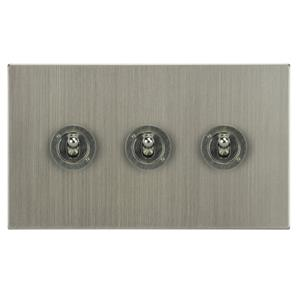 Dolly Switch 3 gang 20 amp 2 way Satin Nickel