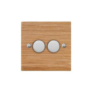 Dimmer Switch 2 gang 400 watt 2 way Oak