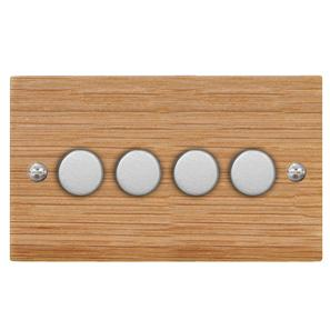 Dimmer Switch 4 gang 250 watt 2 way Oak