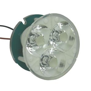 Lens LED Triple Spot Blue 6°
