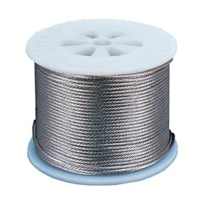 PVC Coated Wire Cable 4mm Silver 100m