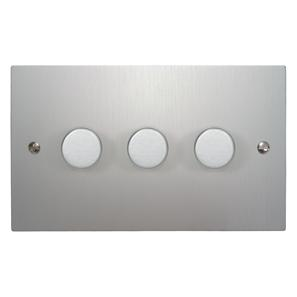 Dimmer Switch 3 gang 400 watt 2 way Aluminium