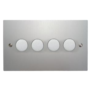 Dimmer Switch 4 gang 400 watt 2 way Aluminium