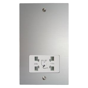Shaver Point 1 gang shaver socket Aluminium