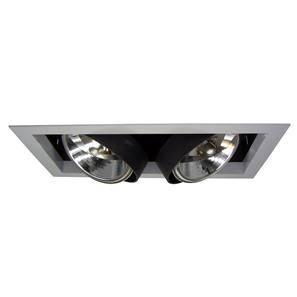 Double Bar Lamp Downlighter 12V 2 x 75W Silver