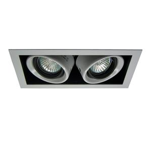 Double Downlighter 12V 2 x 50W Silver