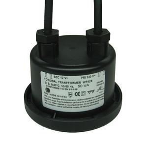 Waterproof Toroidal 12V Black 50W