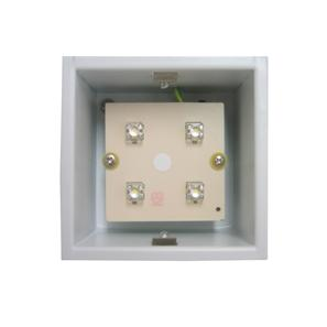 Aqua Square Internal 240V Silver / Frosted Glass 3500K Neutral White