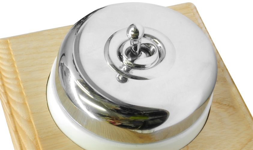 Raised Plate Asbury Ash Polished Chrome Range