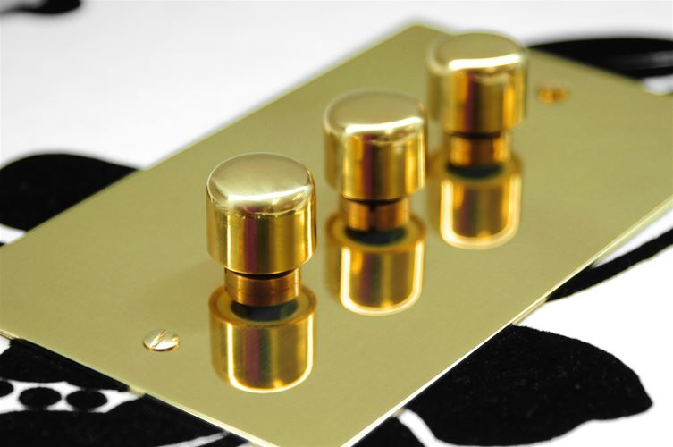 Flat Plate Horizon Polished Brass Range