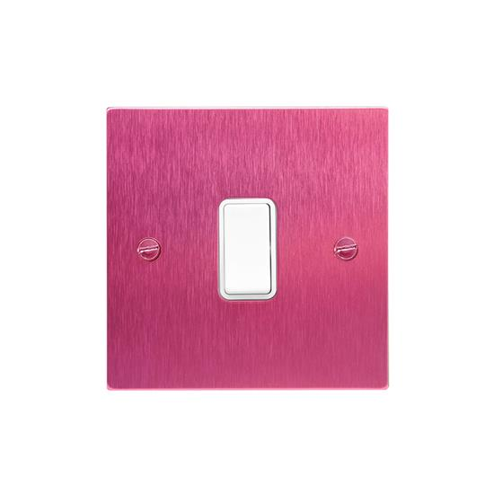 Rocker White Switch 1 gang rocker switch 20 amp 2 way Pink Aluminium