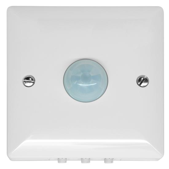 120° PIR Surface Mounted Occupancy Switch 1500W White
