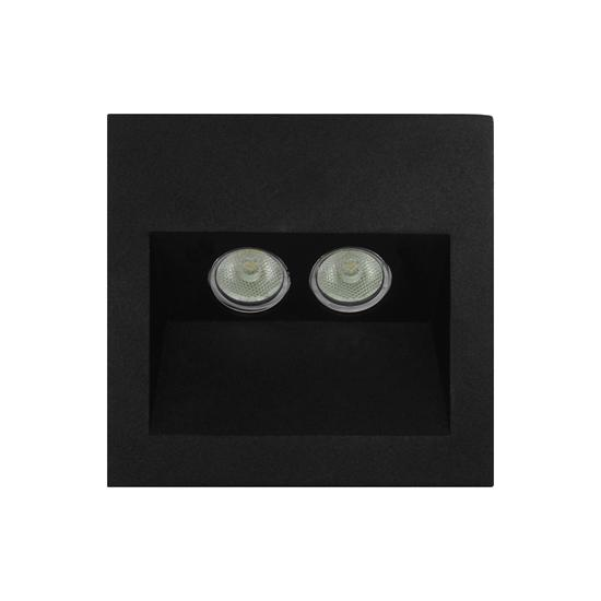 Ixis recessed wall light 240v 2w black 3000k warm white mr ixis recessed wall light 240v 2w black 3000k warm white aloadofball Gallery