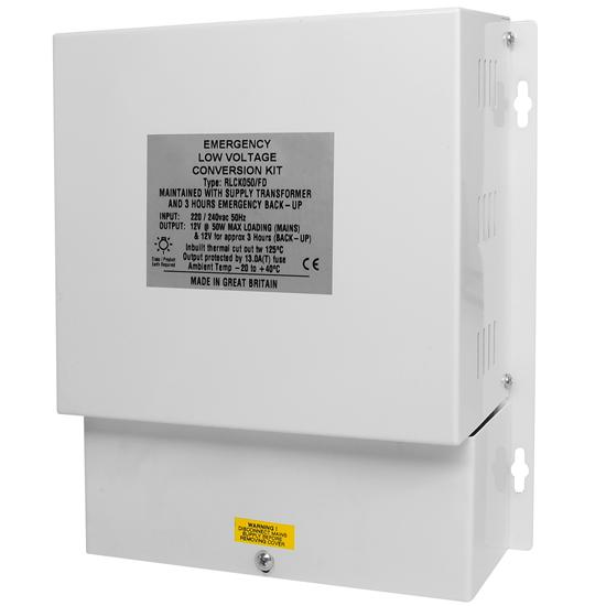 Emergency Low Voltage Conversion 12V 3hr 50W Maintained