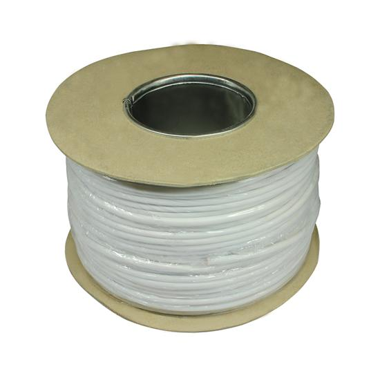 Telephone Cable White 100M 0.5mm² 2 Pair