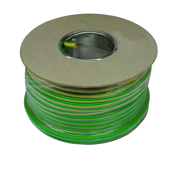 PVC Single Core Cable 50M  16.0mm² Green / Yellow