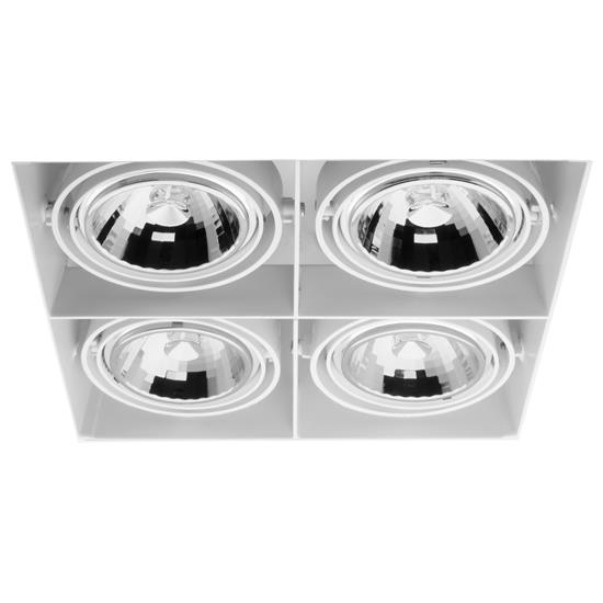 Grid Trimless Quadruple AR111 12V 4 x 75W White