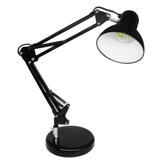 Angle Desk Lamp & LED GU10 240V Black 5W