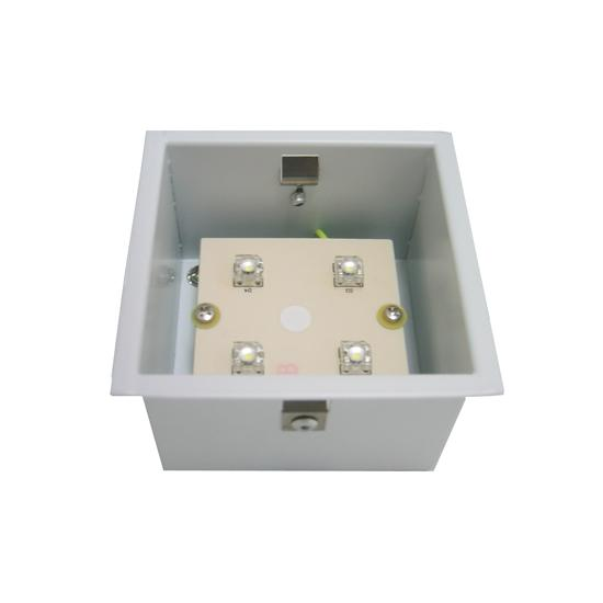 bathroom led spot lights aqua square 240v silver frosted glass 3500k 16047