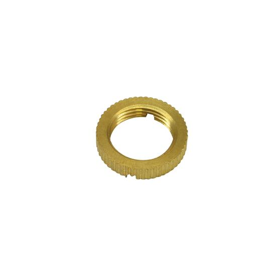 Lockring 2 Slots 10mm Thread Brass