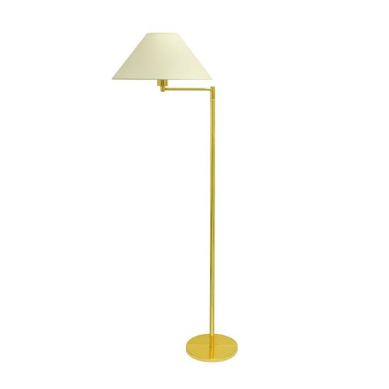 Baldwin Floor Single Arm Brass