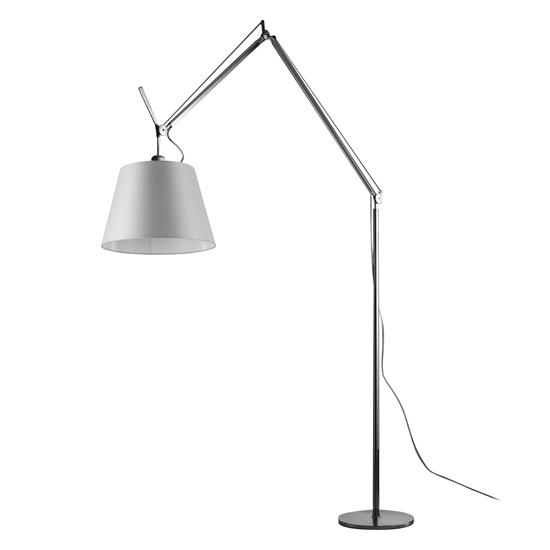 Tolomeo Mega Arm & Stem Satin Grey Shade 150W