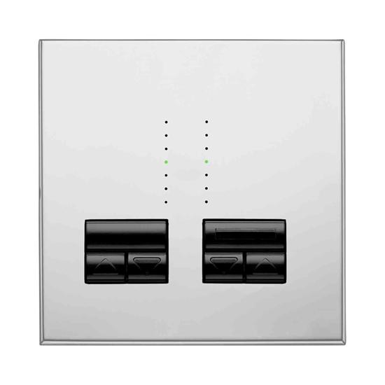 Rania IR 2 Gang Dimmer Chrome 2x250W