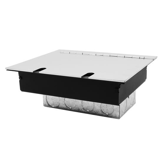 Recessed Floor Box Single Box Polished Stainless Steel