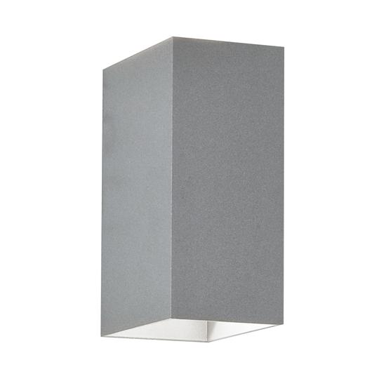 Oslo 160 LED Up/Down Wall Light 240V (7060) Textured Painted Silver 6W