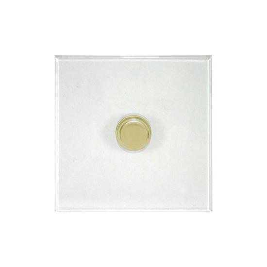 Dimmer Switch 1 gang dimmer switch 1000 watt 2 way Polished Brass / Clear  Perspex