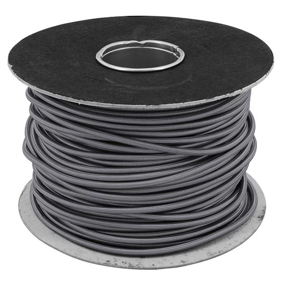 Braided Cloth Round Flex 3 Core Cable 0.75mm² Grey