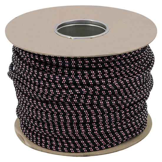 Braided Cloth Round Flex 3 Core Cable 0.75mm² Black / Red White