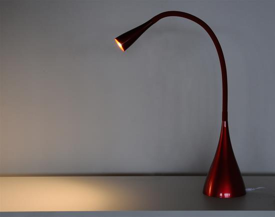 LED Dimmable Table Lamp 240V Red 3.5W