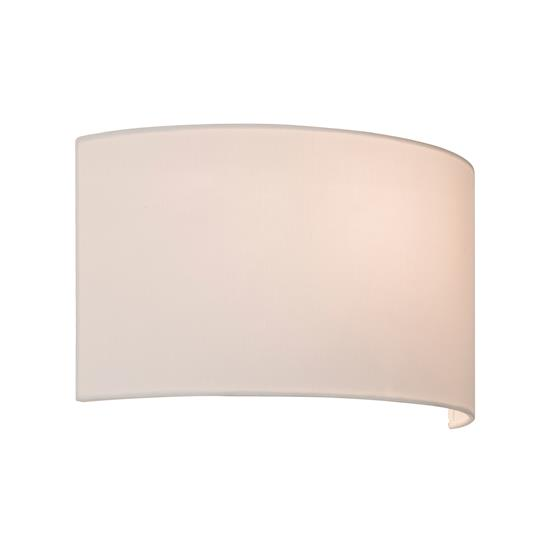 Lima Bathroom Wall Light Shade Fabric White Mr Resistor Lighting - Bathroom wall sconce with shade