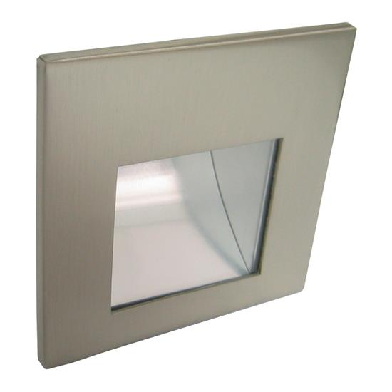 led aqua internal low level wall light 700ma satin nickel 3000k warm