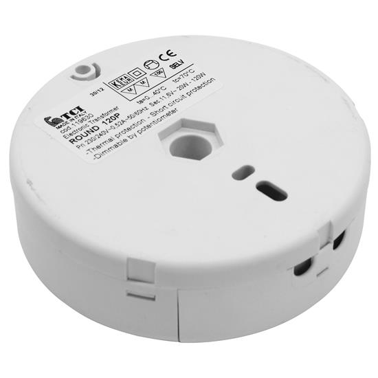 Round 120 P Electronic Dimmable Transformer 12v 120w Mr