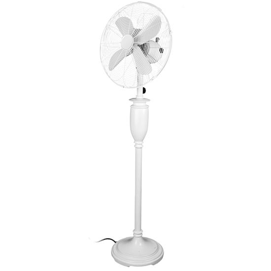 Retro Floor Fan Gloss White 16