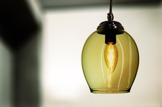 Polla Glass Pendant Shade 40W Ice Green