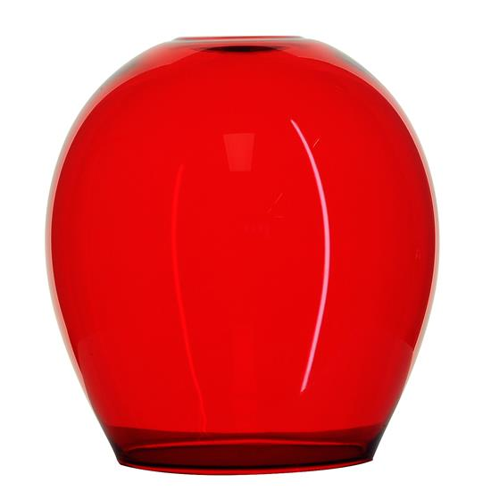 Polla Glass Pendant Shade 40W Rouge Red