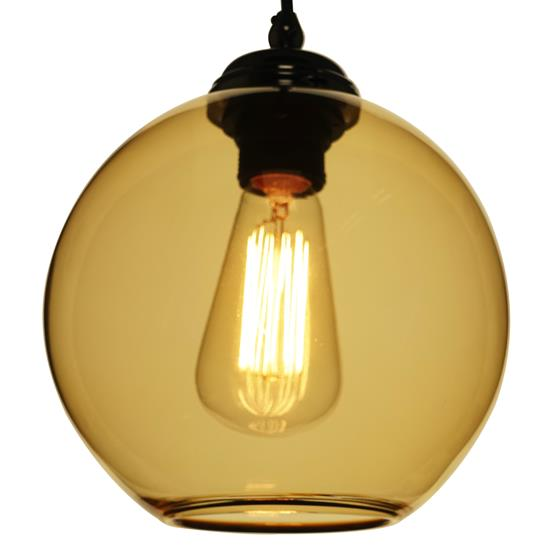 Modica Glass Pendant Shade 60W Amber