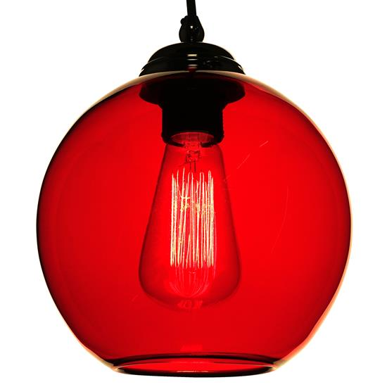 Modica Glass Pendant Shade 60W Rouge Red