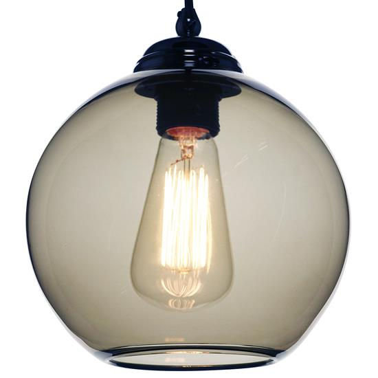 Modica Glass Pendant Shade 60W Smoke Fume