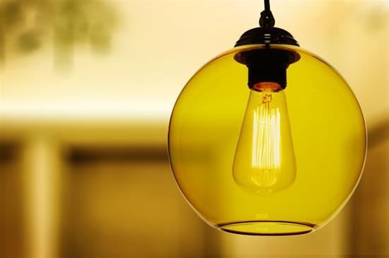 Modica Glass Pendant Shade 60W Yellow