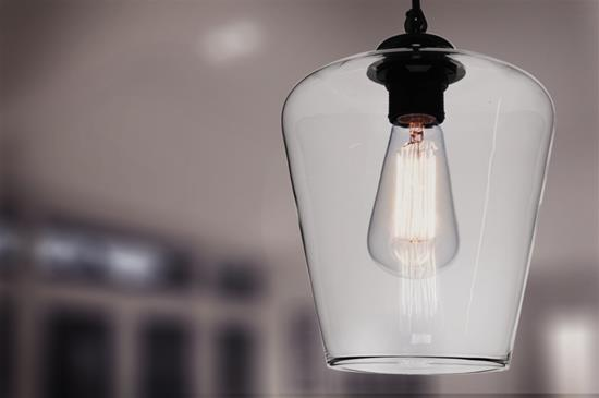 Sorento Glass Pendant Shade 60W Clear