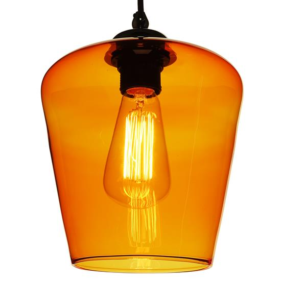 Sorento Glass Pendant Shade 60W Orange