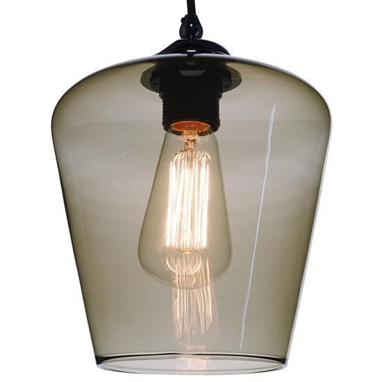 Sorento Glass Pendant Shade 60W Smoke Fume