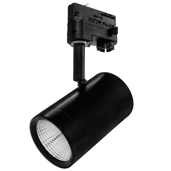 Black Track Lighting Uk: Tube Integrated LED Track Light 3 Circuit (20 Degrees